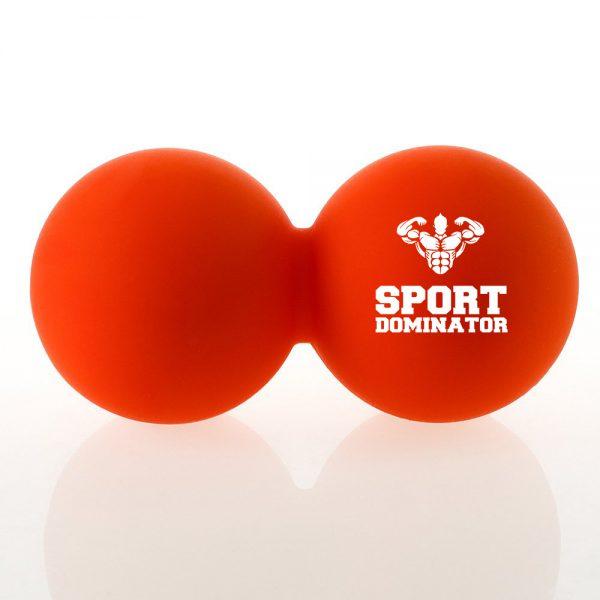 Оранжевый двойной массажный мяч SportDominator